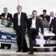 Volvo Auto Hase s Catlikem a Foxem