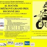 Pozvánka na cyklistický závod dětí Galaxy CykloŠvec a 41.ročník koloběžkové Grand Prix Bechyně 27.7.2013