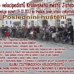 Pozvánka na Poslední huštění 19.10.2013 v Jistebnici